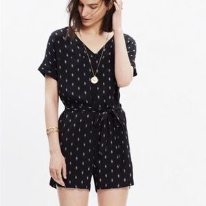 Madewell Perimeter belted romper small